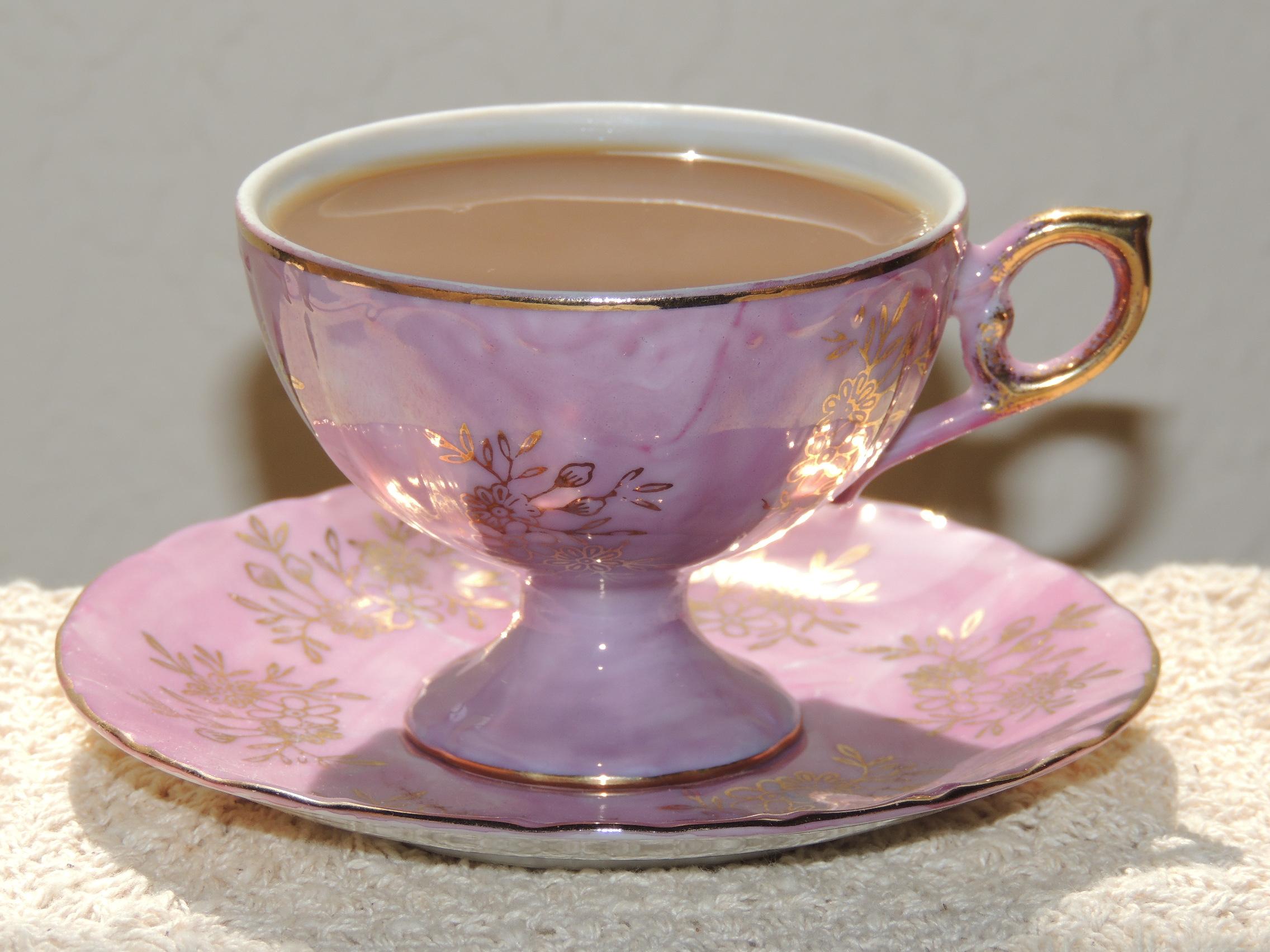 Pretty And Unique Tea Cup Truly Skrumptious