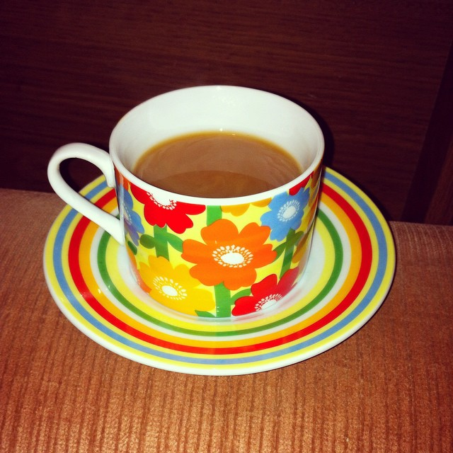 ColorfulFloweredTeaCup